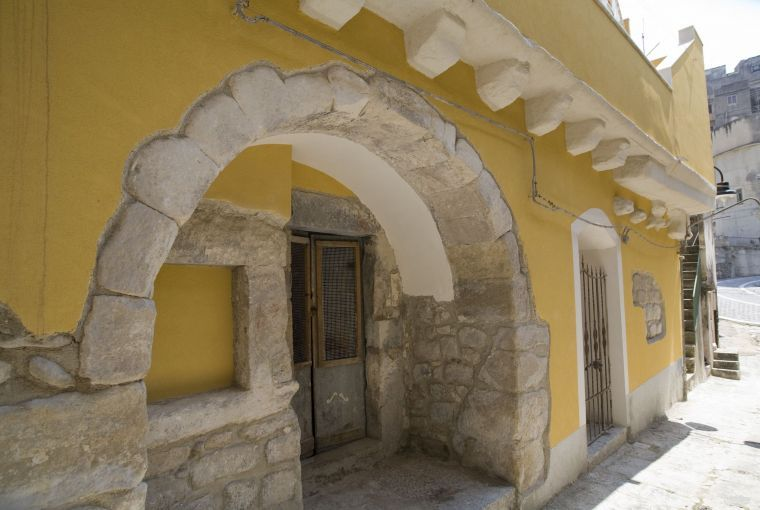 Restoration of house facade in old town center